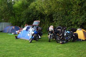 Camping bikers tents